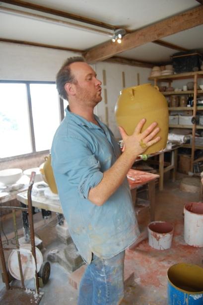 Michel Francois in his Atelier - Les Trauchandieres